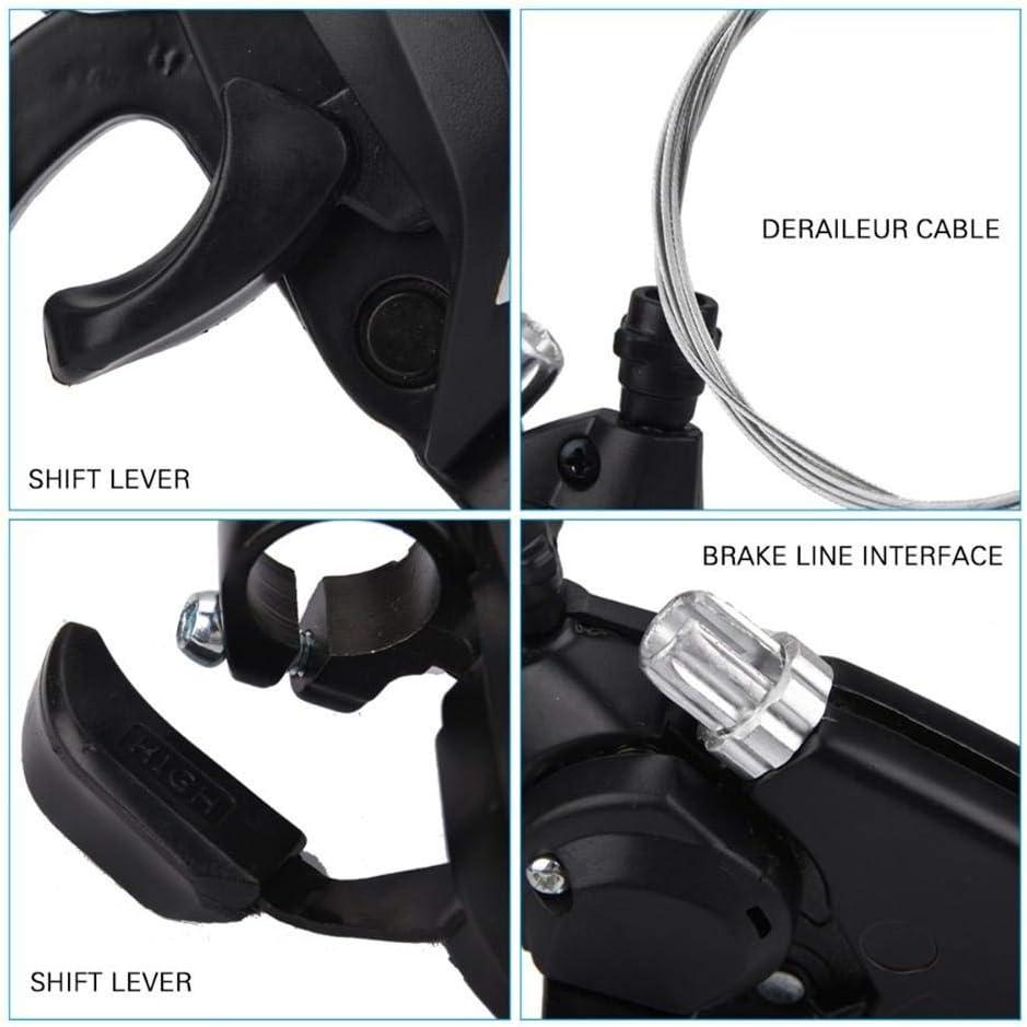 V-brake,Suitable for MTB//Mountain Bike//Folding. ST-EF51 Brake Lever Shifter Set,Shifter 3x7//8 Speed Shift and 21//24 Speed Governor Transmission