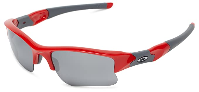 red oakleys  Amazon.com: Oakley Flak Jacket XLJ 03-902 Iridium Sport Sunglasses ...