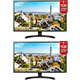 2 Pack of LG 32'' 3840x2160 Ultra HD 4k LED Monitor (32UD59-B) + 2x 1 Year Extended Warranty