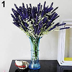lightclub Home Decoration Wedding Silk Flowers High Simulation 12 Heads Lavender Bouquet 81