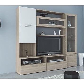 Inside Meuble Tv Aroma Design Orme 240cm Amazon Fr Cuisine Maison