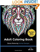 #6: Adult Coloring Book: Stress Relieving Animal Designs