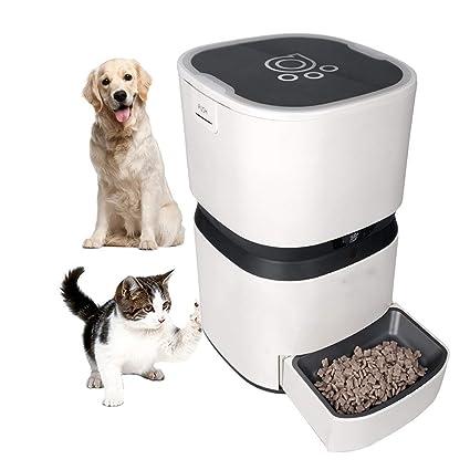 MRXUE L Alimentador Automático De Pet para Gatos Perros Conejos Tazón De Ratón con Temporizador Programable