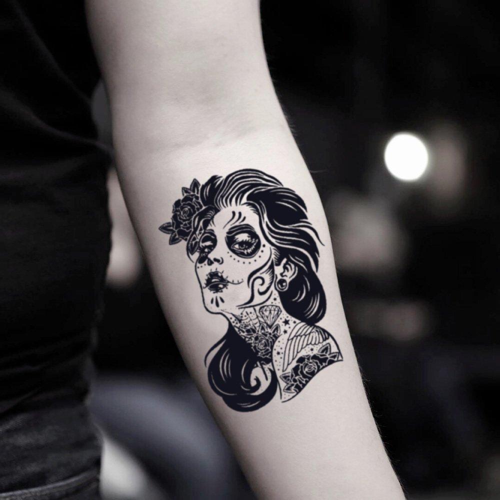 Amazoncom Dia De Los Muertos Temporary Fake Tattoo