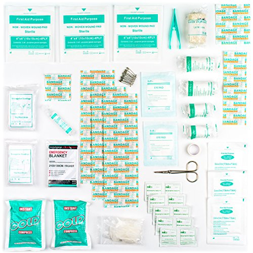 90 Pieces First Aid Kit - All-Purpose with Premium Medical Supplies and Soft Case for Home, Office, Car, Camping and Travel by The Body Source (Image #1)