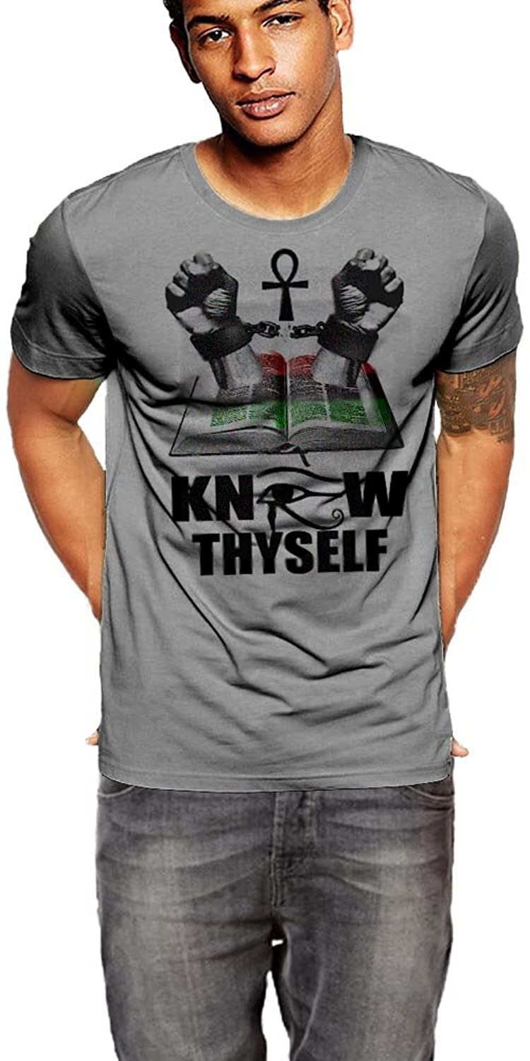 Know Thyself Ankh II Black History Month T-Shirt By Warface Apparel Inc