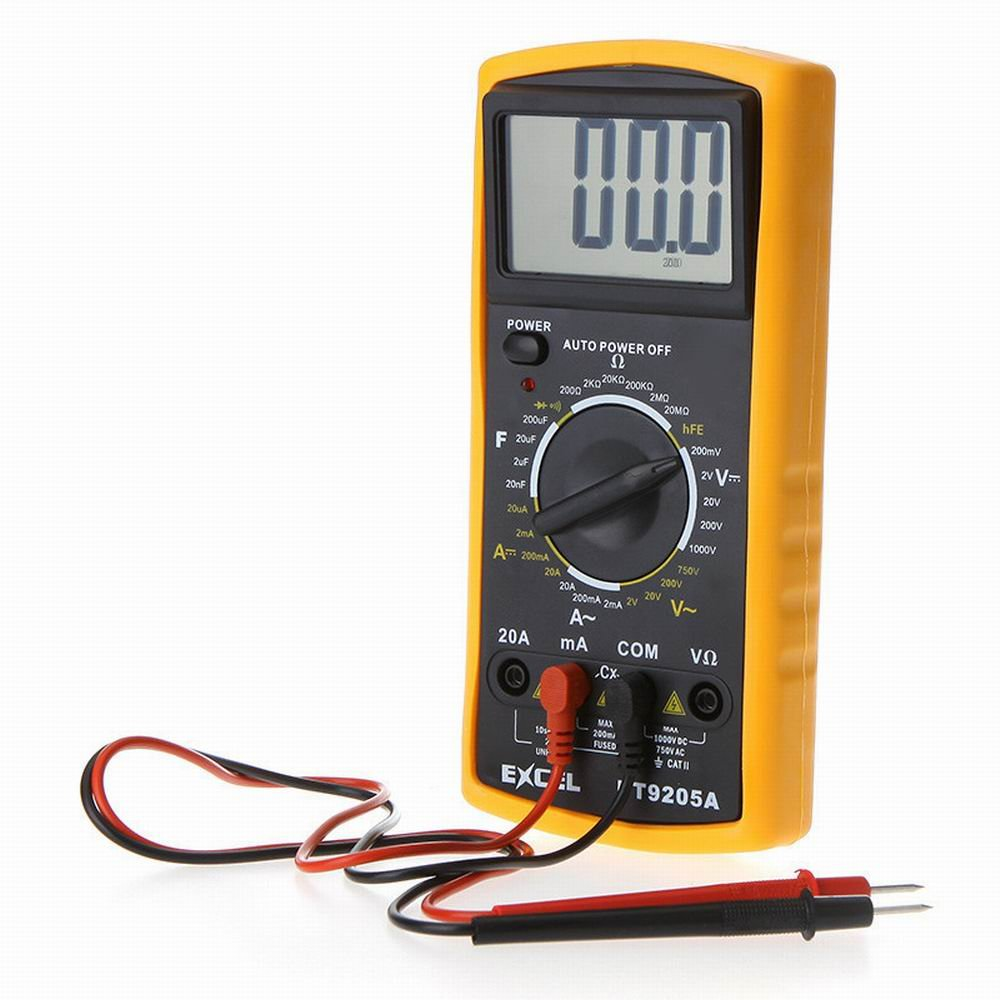Wishforyou DT9205A AC/DC Professional Electric LCD Display Handheld Tester Meter Digital Multimeter Multimetro Ammeter