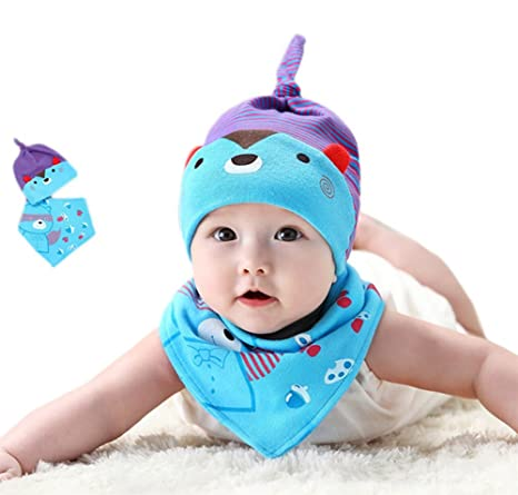 wicemoon azul Bandana baberos viene con un diseño de algodón bebé ...
