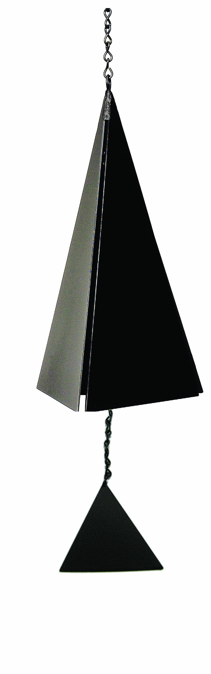North Country Wind Bells Nantucket Bell Windcatcher with Black Triangle