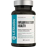 LES Labs Inflammatory Health, Joint Supplement for Joint & Muscle Pain and Discomfort, Mobility and Healthy Inflammation Response with Turmeric, Boswellia, Quercetin, 60 Capsules