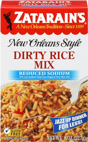 Zatarain's New Orleans Style Dirty Rice Mix Reduced Sodium 8 oz