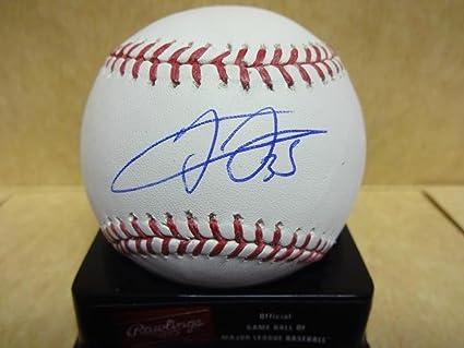 Frank Thomas Chicago White Sox Leaf Hologram Signed Ml Baseball W