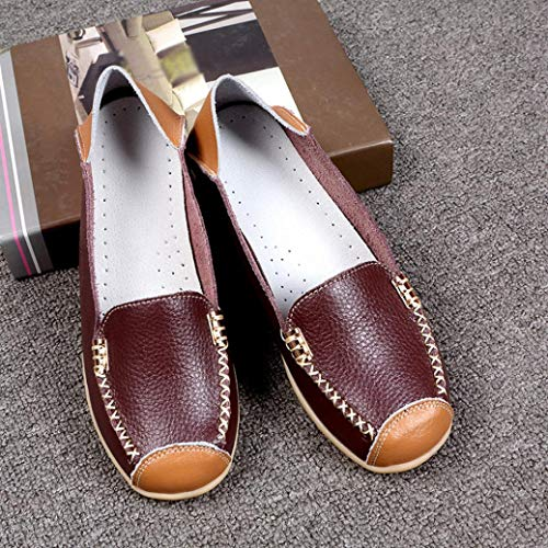 Outdoor FALAIDUO Flat Boat Casual Bottom On Shoes Peas Coffee Women Slip Shoes Soft Comfortable wRxaq4v