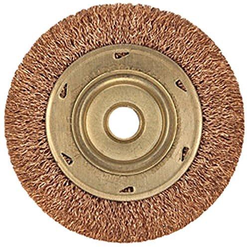 Ampco安全ツールwb-45 Wheel Crimped Wireブラシ、ノンスパーキングアルミニウム、非磁性、耐腐食性、直径4インチ B071HTBG7F