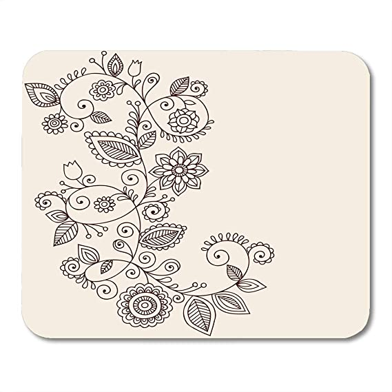 Indian Wedding Mehndi Ceremony White or Full Color on Espresso Stained 38 Birch Wood Paisley Henna Wood Welcome Sign /& Easel