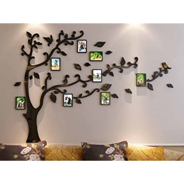 3d Picture Frames Tree Wall Murals for Living Room Bedroom Sofa Backdrop Tv Wall Background, Originality Stickers, Wall Decor Decal Sticker (50(H) x 70(W) inches)