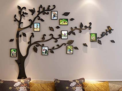 c4fc9a8605 3d Picture Frames Tree Wall Murals for Living Room Bedroom Sofa Backdrop Tv  Wall Background,
