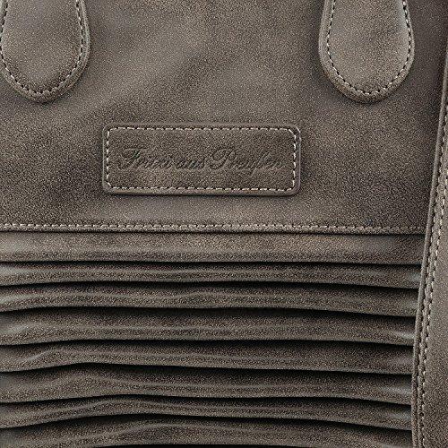 Fritzi aus Preußen Leyla Vintage Bolso totes Shopper 42 cm Turf
