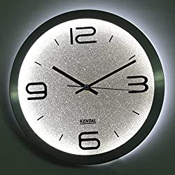 KENDAL 12 Modern Stylish Elegant Silent Home Kitchen/Living Room Lighted Wall Clock SI-WC3012