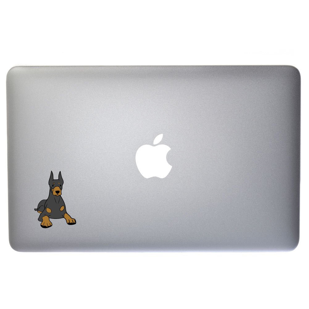 Laptops 4 Inch Full Color Vinyl Decal for Indoor or Outdoor use D/écor Cars Windows and more Diesel The Doberman Pinscher Dog