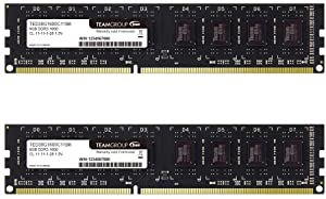 TEAMGROUP Elite DDR3 8GB Kit (2 x 4GB) 1600MHz (PC3-12800) CL11 Unbuffered Non-ECC 1.5V UDIMM 240 Pin PC Computer Desktop Memory Module Ram Upgrade - TED38G1600C11DC01-8GB Kit (2x4GB)