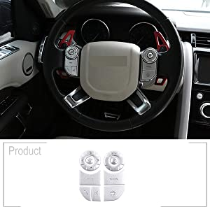For Range Rover Sport,Rover Range Rover Vogue L405,Discovery 5 2013 2014 2015 2016 2017 2018 2019 Car Steering Wheel Button Patch Protection Patch Trim Interior Accessories (With heating)