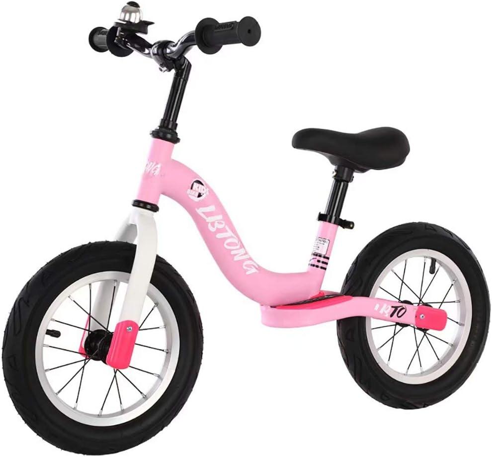 Coche de equilibrio para niños 2-5 años coche de equilibrio para bebés andador scooter sin pie yo coche (polvo)