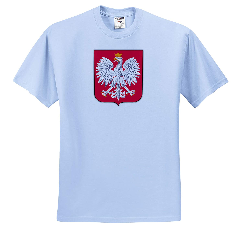 Illustrations ts/_319381 3dRose Carsten Reisinger Adult T-Shirt XL Poland Coat of Arms National Symbol Icon