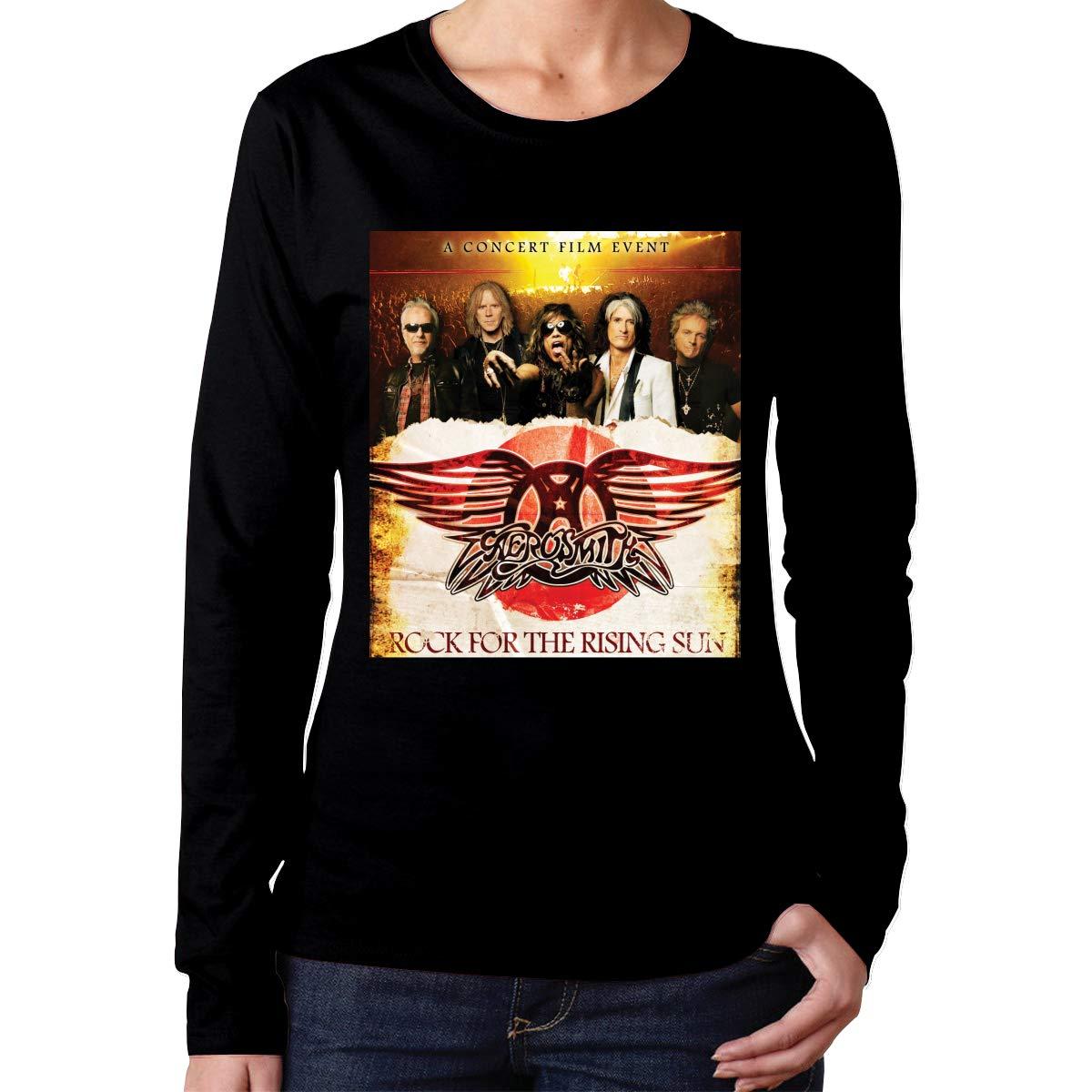Aerosmith Rock For The Rising Sun Womans Comfortable Casual Shirts