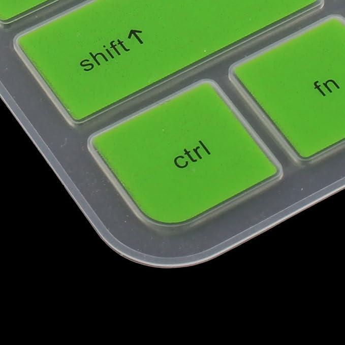 Amazon.com: eDealMax Portátil silicona ordenador del polvo Anti caso del Protector de la piel del teclado cubierta del Protector de Verde Para HP DE 14 ...