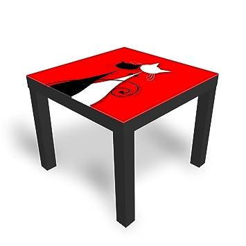 Piano Tavolo Vetro Ikea.Dekoglas Tavolo Decorativo In Vetro Ikea Laccato Tavolino Da