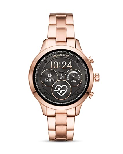 bdec932e41ff Michael Kors Womens Digital Connected Wrist Watch with Stainless Steel Strap  MKT5046  Amazon.co.uk  Watches