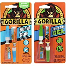 Gorilla Super Glue 6g, Super Glue Gel 6g, Clear - Combo Pack