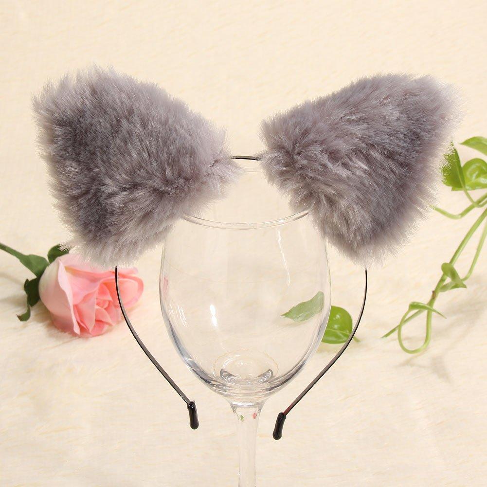 Diamondo Fashion Girls Cute Cat Fox Ears Fur Headband Party Costume Anime Cosplay
