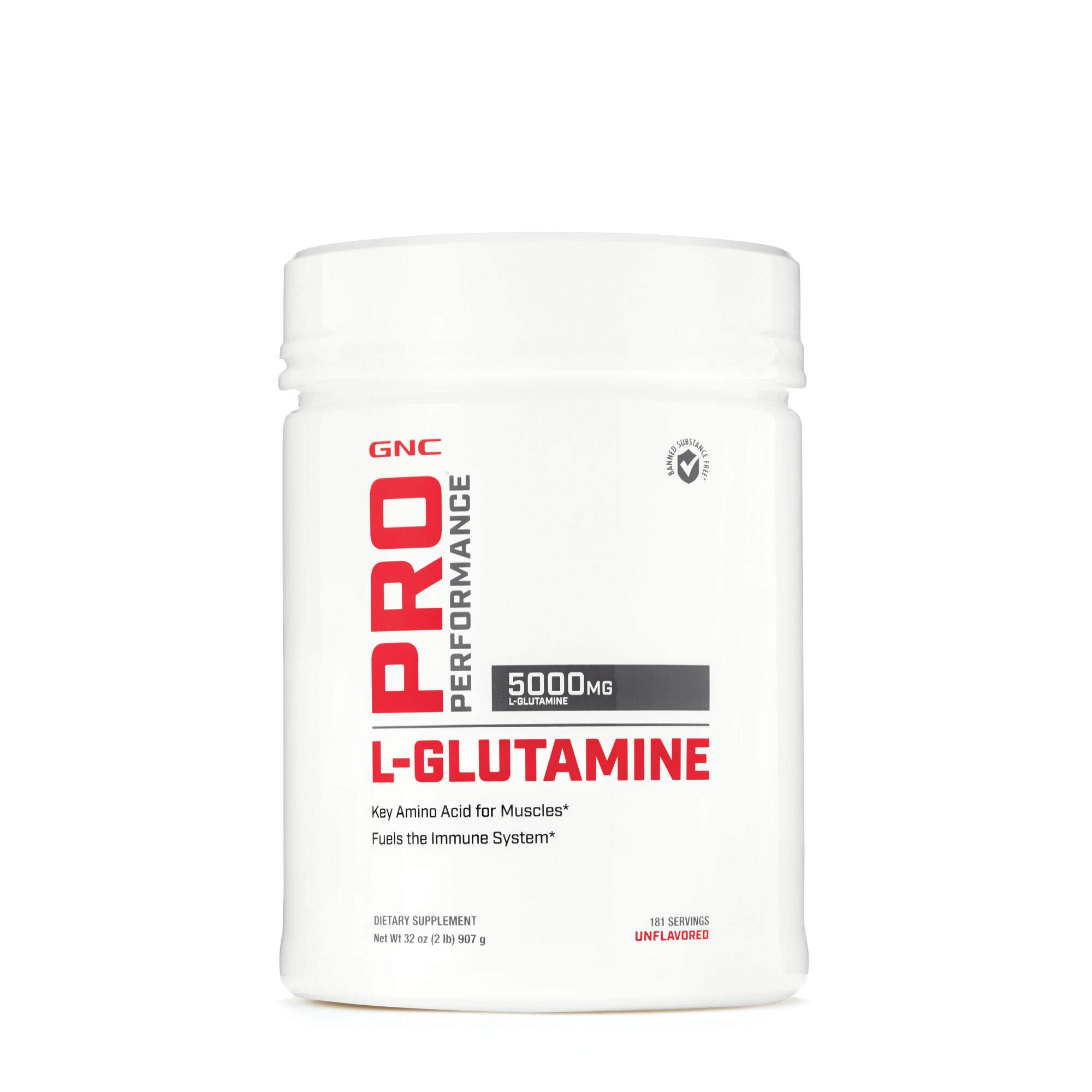 GNC Pro Performance L-Glutamine, Unflavored, 181 Servings, Supports The Immune System by GNC
