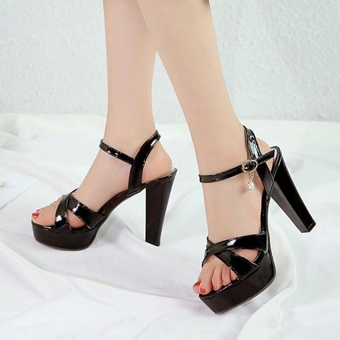 Complementos es Y Sintético De Zapatos Sjjh Mujer Amazon Fashion apTqwR