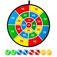 Kohyum Diana para niños con 8 pelotas de velcro para niños y grandes, juego de diana para interior y exterior, juego de…