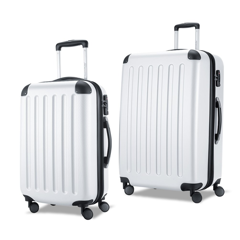 HAUPTSTADTKOFFER-Spree-Luggages Sets Suitcase Sets Hardside Spinner Trolley Expandable TSA (20'28') White