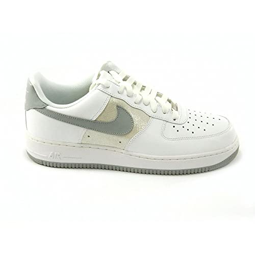 Nike - Nike Air Force 1 scarpe sneakers basse low bianche argento donna -  Bianco 5f881a89b87