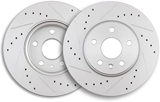 2012 2013 For Chevrolet Orlando Coated Front Disc Brake Rotors Pair