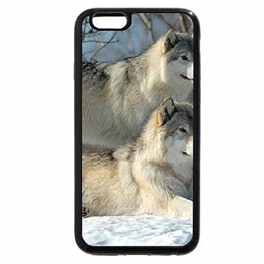 iPhone 6S Plus Funda, iPhone 6 Plus, madera, diseño de lobos ...