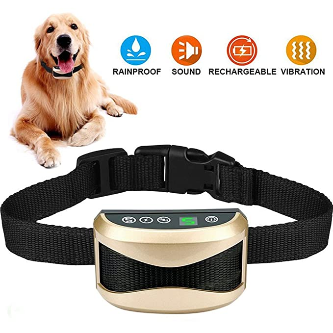 Amazon.com: Collar antiladridos recargable Anti-ladridos no ...