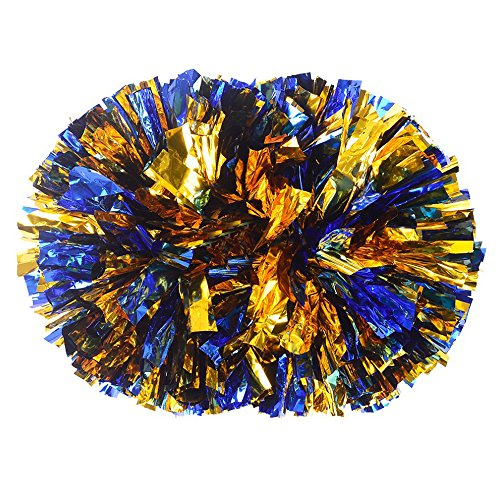 Plastic Cheerleader Cheerleading PomPoms Party Costume Accessory Set Ball Dance Fancy Dress Night Party Sports Pompoms Cheer 1 pair (Dallas Cowboy Cheer Costumes)