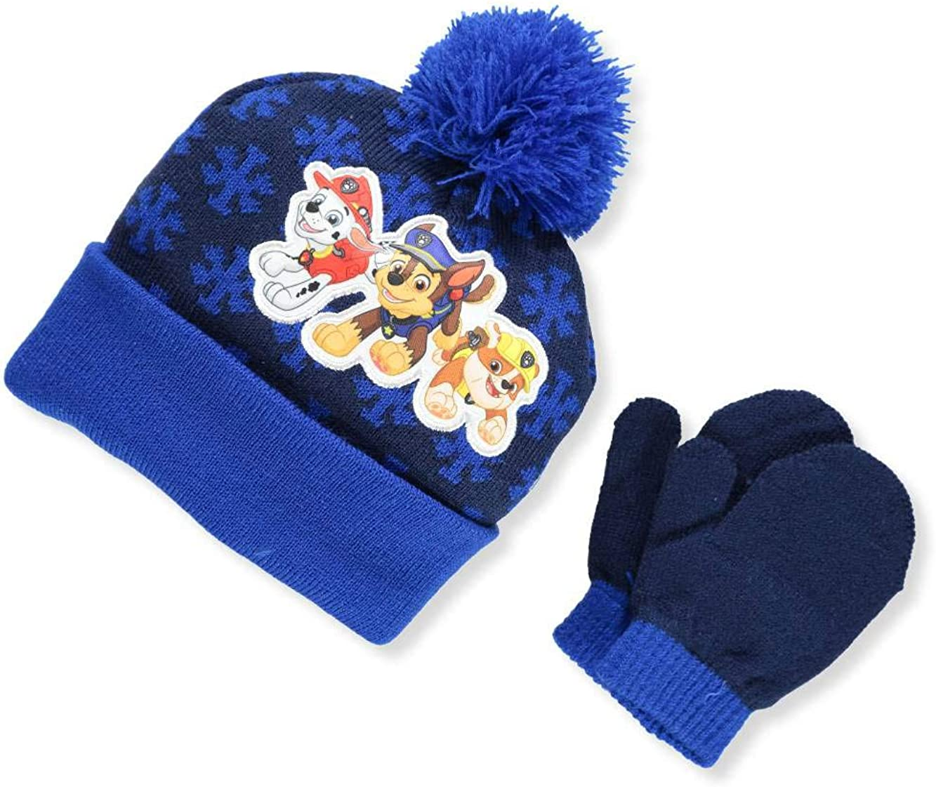 4015 Toddler Size Nick JR Paw Patrol Boys Beanie Winter Hat and Mitten Set
