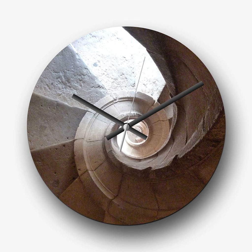 Big Box Art Gran Arquitectura de 32 cm Reloj de Pared analógico – Escalera de Caracol – Silent Non-Ticking Cuarzo – Entrega Gratuita: Amazon.es: Hogar