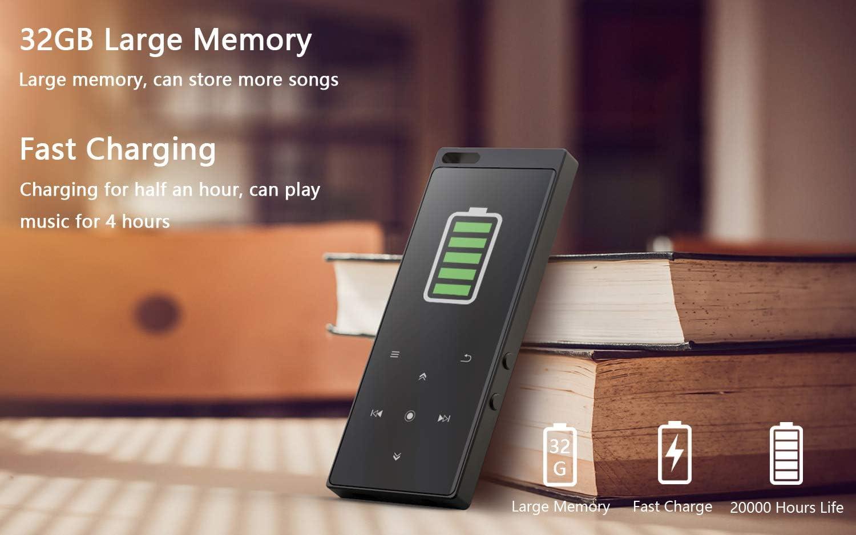 Reproductor MP3 IHOUMI de 32GB, Bluetooth 4.2, con Radio FM ...