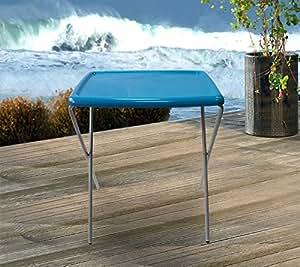 Mesa plegable Mesa de camping 54x 42x 66cm–Azul
