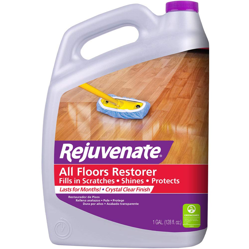 Rejuvenate All Floors Restorer and Polish Fills in Scratches Protects Restores Shine No Sanding Required
