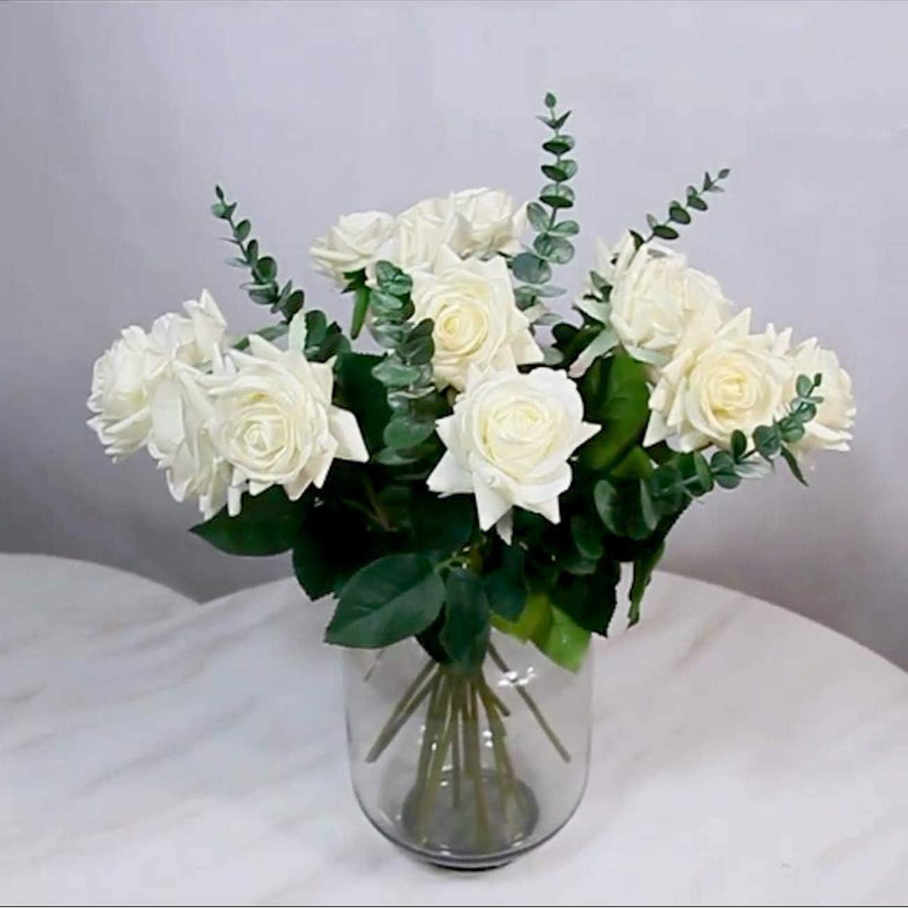 d/écoration dint/érieur Chenguo Lot de 5 feuilles deucalyptus artificielles au toucher r/éaliste pour bouquet de mariage