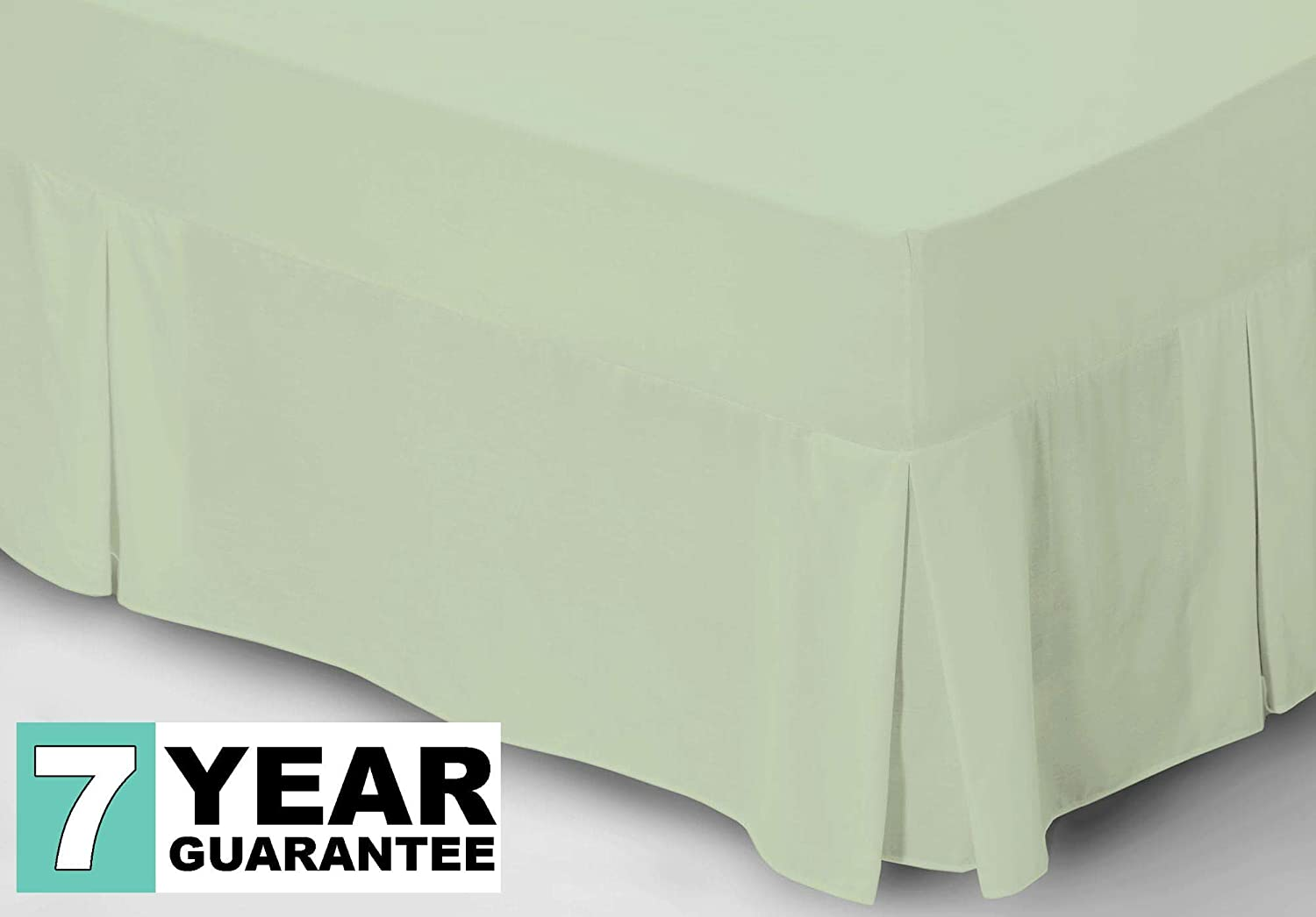 Valance Non Iron Percale Bed Sheets Fitted ~ 10 COLOURS ~ Base Valance Flat